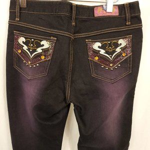 G Jon Jeans Embellished Pockets Bedazzled